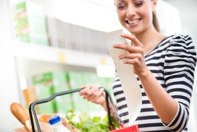 Экономия на продуктах питания меню повсюду вокруг